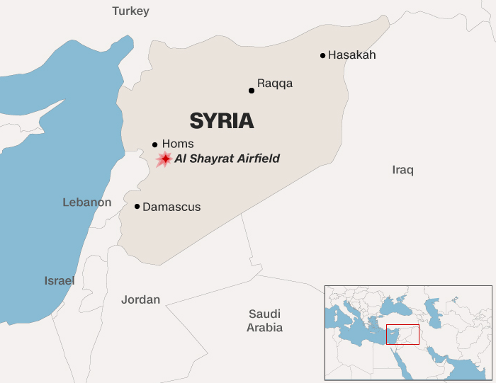 United States launched a military strike on a Syrian government airbase