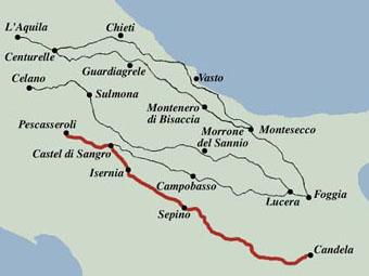 Tratturo Regio: The drovers' road Pescasseroli-Candela